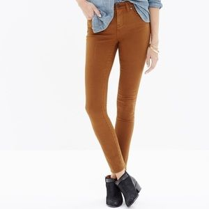 Madewell Denim High Riser Skinny Sateen Jean